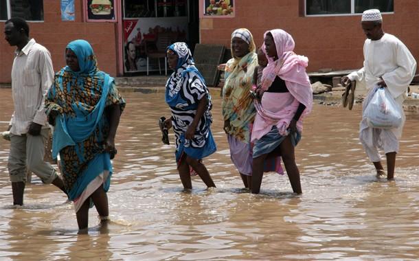خمسة قتلى وثلاثة مصابين جراء أمطار وفيضانات في السودان