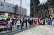 أتراك يتظاهرون بألمانيا في كولونيا دعما لأذربيجان