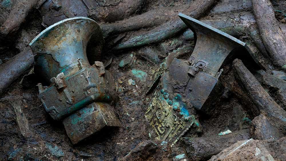 الصين تعلن عن اكتشافات رئيسية جديدة في أطلال سانشينغدوي