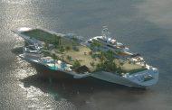 حاملة طائرات تتحول إلى جزيرة خضراء متنقلة قابلة للتوسع