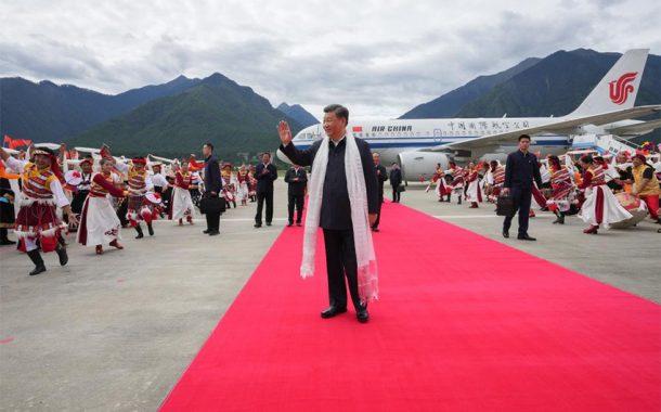 شي يزور نينغتشي في التبت