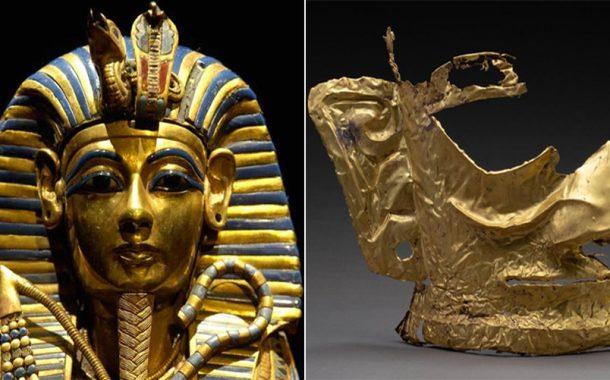 مقارنة بين القناع الذهبي سانشينغدوي ونظيره الفرعوني